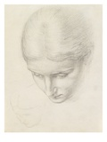 Study of a Woman. C.1868-71 (Pencil on Paper) Giclee Print by Edward John Poynter