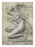The Story of Psyche: Cupid (Silvered Bronze) (See 198359 and 201279) Giclee Print by Harry Bates