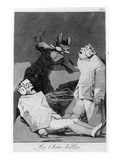The Chinchillas, Plate 50 of 'Los Caprichos', 1799 (Etching and Aquatint) Giclee Print by Francisco de Goya