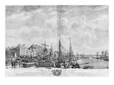 Port and Town of Le Havre, Seen from the Tower of Francois I, Series of 'Les Ports De France' Giclée-Druck von Claude Joseph Vernet