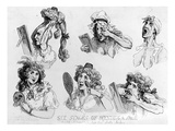 Six Stages of Making a Face', Printed by S.W. Fores, 1792 (Etching) Giclee Print by Thomas Rowlandson