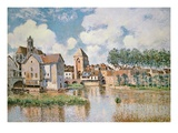 Moret-Sur-Loing, the Porte De Bourgogne, 1891 Reproduction proc&#233;d&#233; gicl&#233;e par Alfred Sisley