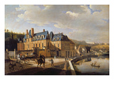 Chateau De La Chaussee Near Bougival, 1822 (Oil on Canvas) Giclee Print by Jacques Francois Joseph Swebach