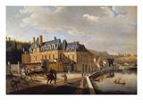 Chateau De La Chaussee Near Bougival, 1822 Giclee Print by Jacques Francois Joseph Swebach