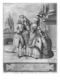 Voltaire Crowned by Mademoiselle Clairon, Engraved by Jean Victor (B.1718) 1791 (Engraving) Giclee Print by Claude Louis Desrais