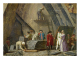 Extracting Sainte-Anne Marble from a Quarry Premium Giclee Print by Leonard Defrance