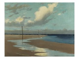 Beach at Low Tide, 1890 Premium Giclee Print by Frederick Milner