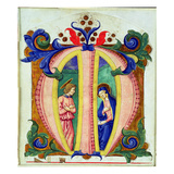 Historiated Initial 'M' Depicting the Annunciation (Vellum) Giclee Print by  Antonio di Niccolo di Lorenzo