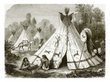 Camp of Comanche Indians Giclee Print by  English