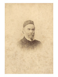 Portrait Photograph of Alfred Sisley (1839-99) (Sepia Photo) Giclee Print by Clement Maurier