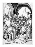 Christ before Annas (Engraving) Giclee Print by Martin Schongauer