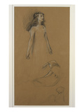 Study for Yseult for &#39;Tristram and Yseult&#39; (Pencil on Paper) Giclee Print by Herbert James Draper