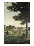 The Open Space in Front of the Grand Trianon, 1810 Giclee Print by Jean Bidauld