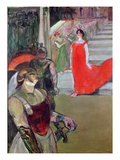 Messalina Descends a Staircase Lined with Attendants, 1900-01 Giclee Print by Henri de Toulouse-Lautrec