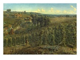 The Hop-Gardens of England, C.1875 (Oil on Canvas) Giclee Print by Cecil Gordon Lawson