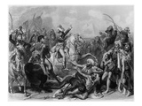 Napoleon Bonaparte at the Battle of the Pyramids, Engraved by Jean Jacques Frilley (B.1797) Giclee Print by Baron Antoine Jean Gros