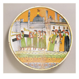 Dish Decorated with Musicians (Ceramic) Giclee Print by  Italian
