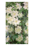 White Clematis, 1887 Giclee Print by Claude Monet