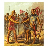 Battle at Poitiers Giclee Print by  English
