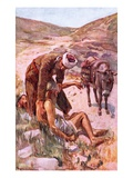 The Good Samaritan Giclee Print by Harold Copping