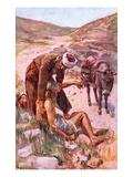 The Good Samaritan Giclee Print by Harold Copping