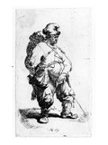 A Man Urinating, 1631 (Eching) Giclee Print by  Rembrandt van Rijn