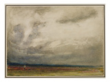 A Gathering Storm, 1908 (W/C and Bodycolour on Paper) Giclee Print by Albert Goodwin