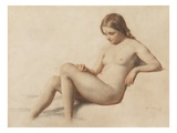 Study of a Nude, 1859 (Pencil on Paper) Giclee Print by William Mulready