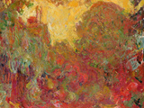 The House Seen from the Rose Garden, 1922-24 Premium Giclée-tryk af Claude Monet