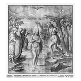 Life of Christ, Baptism of Christ, Preparatory Study of Tapestry Cartoon Giclee Print by Henri Lerambert