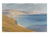 Sea and Sunshine, Lyme Regis, 1919 (Oil on Board) Giclee Print by Frank Bernard Dicksee