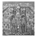 Illustration from 'Das Veraenderte Russland' by Friedrich Christian Weber, 1721 (Engraving) Giclee Print by  German