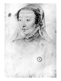 Catherine De Medici, C.1560 (Pierre Noire and Red Chalk on Paper) Reproduction proc&#233;d&#233; gicl&#233;e par Francois Clouet
