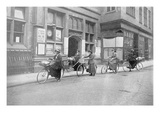 Women Acting as Postmen, War Office Photographs, 1916 (B/W Photo) Giclee Print by  English Photographer