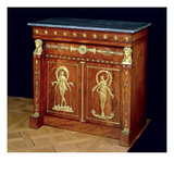 Sideboard, C.1810 (Wood and Marble) Giclee Print by Francois Honore Georges Jacob-desmalter