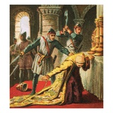 Murder of Thomas a Becket Giclee Print by  English