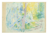 Aloes at Villa Ratti, 1889 (Pastel on Paper) Giclee Print by Berthe Morisot