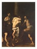 Flagellation, 1607 Premium Giclee Print by  Caravaggio