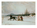 Habitants Sleighing, C.1855 (Oil on Canvas) Giclee Print by Cornelius Krieghoff