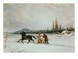 Habitants Sleighing, c.1855 Giclee Print by Cornelius Krieghoff