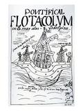 Christopher Columbus's Ship Sailing to Peru (Woodcut) Premium Giclee Print by Felipe Huaman Poma De Ayala