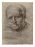 Sir Francis Seymour Haden, Etcher, 1895 (Goldpoint on Paper) (See also 414599) Giclee Print by Alphonse Legros