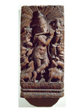 Krishna Playing a Flute (Wood) Giclee Print by  Indian