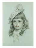 Study for St. George (Pencil and Grey Wash Heightened with White) Giclee Print by Anthony Frederick Augustus Sandys