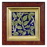 Tile with a Leaf Design (Pottery) Giclee Print by William De Morgan