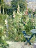 Roses Tremieres (Hollyhocks), 1884 Reproduction procédé giclée par Berthe Morisot