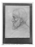Head of an Old Man with Long Hair, 1899 (Silverpoint on Paper) Giclee Print by Alphonse Legros