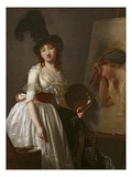 Portrait of a Female Painter, Pupil of David (Oil on Canvas) Giclee Print by Aimee Duvivier
