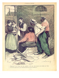 Group of Workers Discussing Retirement at the Age of 65 and Tax Deductions on Salary Giclee Print by Aristide Delannoy