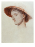 Study of the Artist&#39;s Wife Edith (Coloured Chalks on Paper) Giclee Print by William Holman Hunt